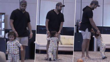 IPL 2020 Update: पिता रोहित शर्मा के साथ खेलती हुई नजर आई नन्हीं समायरा, देखें वीडियो