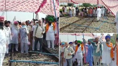 Farm Bills: कृषि बिल के खिलाफ आर-पार की लड़ाई, पंजाब के फिरोजपुर में किसान मजदूर संघर्ष समिति का रेल रोको आंदोलन जारी