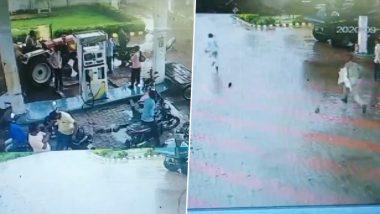 उत्तर प्रदेश के लखीमपुर खीरी में पेट्रोल पंप से भागा पॉक्सो ऐक्ट का आरोपी, पीछे दौड़ती रह गई पुलिस, देखें VIDEO