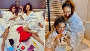 Nia Sharma-Krystle D'souza Hot Pics: निया शर्मा ने अपनी को-स्टार क्रिस्टल डिसूजा संग पोस्ट की Bedroom और Bathtub की हॉट फोटोज, दिखा सेक्सी अवतार