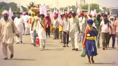 Farmers Protest: मोदी सरकार के कृषि अध्यादेशों के खिलाफ पंजाब में किसानों का जोरदार प्रदर्शन