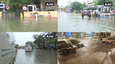 Mumbai Rainfall: मुंबई में भारी बारिश के कारण कई जगहों पर जल जमाव, जन परिवहन सेवाएं प्रभावित