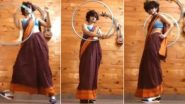 Hula Hoop Saree Dance: सारी और स्नीकर्स पहनक कर ससुराल गेंदा फूल पर एशना कुट्टी ने किया हूला हूप डांस, सोशल मीडिया पर वायरल हुआ वीडियो (Watch Viral Video)