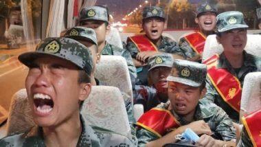 PLA Soldiers Crying Video: लद्दाख सीमा पर कथित रूप से तैनाती को लेकर पीपल्स लिबरेशन आर्मी के सैनिकों के रोने का वीडियो आया सामने,  चीनी और ताइवानी मीडिया के बीच छिड़ी जुबानी जंग