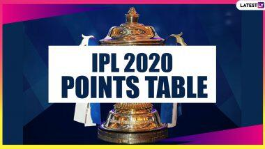 IPL 2020 Points Table Updated: KKR vs RR मैच के बाद यह रही आईपीएल 2020 की लेटेस्ट पॉइंट्स टेबल