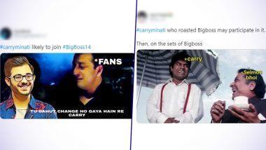 CarryMinati on Bigg Boss 14 Funny Memes and Jokes: कैरी मिनाती बनेंगे सलमान खान के शो बिग बॉस 14 का हिस्सा? इंटरनेट पर वायरल हुए फनी मीम्स और जोक्स