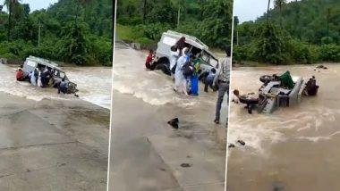 Viral Video: गुजरात में बाढ़ में फंसी जीप, ग्रामीणों ने ऐसे किया रेस्क्यू