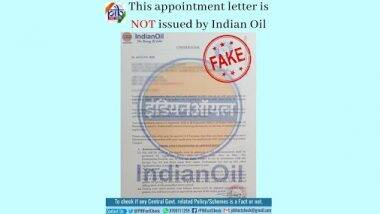 Fact Check: सोशल मीडिया पर वायरल हो रहा है इंडियन ऑयल कॉर्पोरेशन द्वारा सर्विस मैनेजर की पोस्ट का अपॉइंटमेंट लेटर, जानिए इसकी सच्चाई