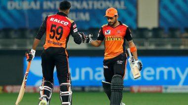 RR vs SRH 40th IPL Match 2020: मनीष पांडे और विजय शंकर की शानदार हाफ सेंचुरी, हैदराबाद ने राजस्थान को 8 विकेट से हराया