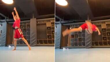 Disha Patani का Acrobatic Butterfly Kick देख टाइगर श्रॉफ हुए इम्प्रेस, कह दी ये बात