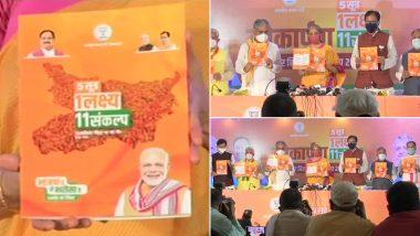 Bihar Assembly Election 2020: निर्मला सीतारमण ने बिहार के लिए बीजेपी का जारी किया विजन डॉक्यूमेंट, 19 लाख नौकरी और कोरोना का मुफ्त टीका का किया वादा