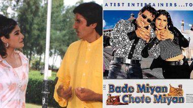 Bade Miyan Chote Miyan: रवीना टंडन को याद आया अमिताभ बच्चन और गोविंदा के साथ का लंच टाइम