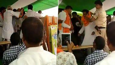 Bihar Assembly Election 2020: तेज प्रताप के ससुर चंद्रिका राय की चुनावी सभा में टुटा मंच, कई लोग घायल