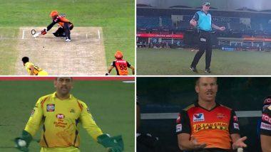 IPL 2020: महेंद्र सिंह धोनी के रिएक्शन को देखकर अंपायर पॉल राइफल ने नहीं दिया वाइड, डेविड वार्नर ने डगआउट से दी ये प्रतिक्रिया; देखें वीडियो