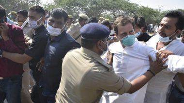 Hathras Rape Case: हाथरस पीड़िता के परिवार से मिलने जा रहे राहुल गांधी का बड़ा आरोप, बोले- 'पुलिस ने मुझ पर लाठीचार्ज किया'