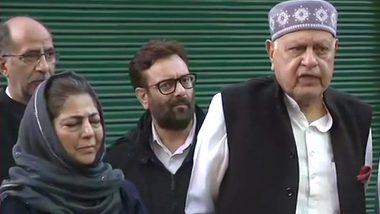 Gupkar Declaration: फारूक अब्दुल्ला के आवास पर हुई बैठक, बोले- हम लोगों के छीने अधिकार वापस मांगते हैं