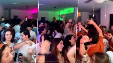 No Masks, No Social Distancing: टेक्सास में ऑस्टिन विश्वविद्यालय के छात्रों को बिना मास्क और सोशल डिस्टेंसिंग के पार्टी करते पाया गया, देखें वायरल वीडियो