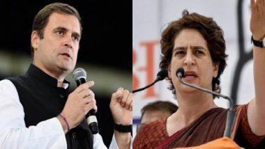 उत्तर प्रदेश: कांग्रेस नेता राहुल गांधी और प्रियंका गांधी ने महिलाओं की सुरक्षा को लेकर राज्य सरकार पर साधा निशाना, कहा- 'अपराधी बचाओ' मिशन के तहत किया जा रहा है यह कार्य