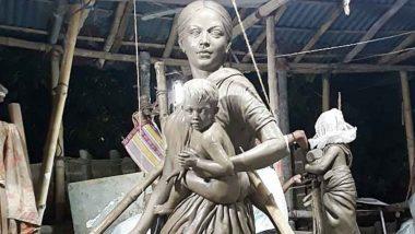 Durga Puja 2020: पश्चिम बंगाल में अनोखा पांडाल, मां दुर्गा की जगह स्थापित की 'प्रवासी मां' की मूर्ति