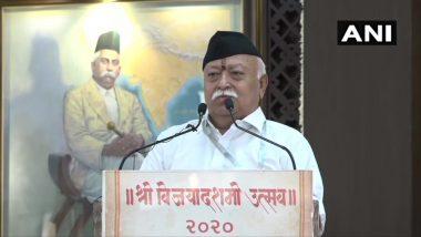 नई दिल्ली: RSS सरसंघचालक मोहन भागवत ने विजयादशमी के अवसर पर आर्टिकल 370, नागरिकता संशोधन कानून और राम मंदिर का किया जिक्र