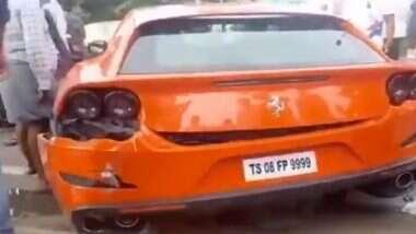 Speeding Ferrari Runs Over Two In Hyderabad: हैदराबाद में तेज रफ्तार से जा रही फेरारी ने पैदल जा रहे 2 लोगों को रौंदा, 1 की मौत