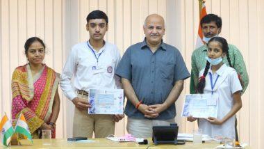 ISRO Competition: इसरो प्रतियोगिता के टॉपरों से मिले डिप्टी सीएम मनीष सिसोदिया, बोले- दिल्ली को अपने बच्चों पर गर्व