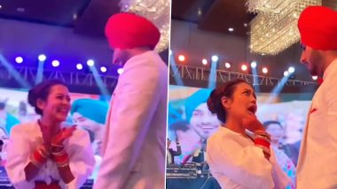 Neha Kakkar And Rohanpreet Singh Wedding: नेहा कक्कड़ और रोहनप्रीत सिंह रिंग सेरेमनी में हुए रोमांटिक, कपल का डांस Video हुआ वायरल
