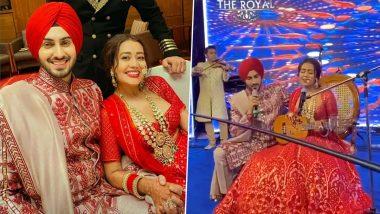 Neha Kakkar Sings Live for Husband Rohanpreet Singh Video: नेहा कक्कड़ और रोहनप्रीत सिंह ने अपनी शादी में सजाई संगीत की महफिल, रोमांटिक गाना गातेदिखा कपल