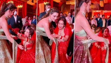 Urvashi Rautela at Neha Kakkar Wedding: नेहा कक्कड़-रोहनप्रीत सिंह की शादी में पहुंची उर्वशी रौतेला,कपल के साथ जमकर किया एन्जॉय, देखें Video