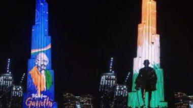Gandhi Jayanti 2020: महात्मा गांधी की 151वीं जयंती पर राष्ट्रपिता की छवि से रोशन हुआ बुर्ज खलीफा, देखें वीडियो
