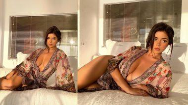 Demi Rose Hot Photo: इंटरनेट सनसनी डेमी रोज ने बेड पर लेटकर दिया हॉट पोज, शेयर की होश उड़ा देने वाली फोटो