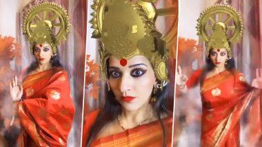 Monalisa Video: भोजपुरी एक्ट्रेस मोनालिसा ने लिया मां दुर्गा का अवतार, नवरात्र पर रूद्र रूप में शेयर किया ये Video