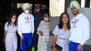 Neha Kakkar-Rohanpreet Singh Wedding: शादी के बाद पति रोहनप्रीत सिंह संग मुंबई पहुंची नेहा कक्कड़, एअरपोर्ट से तस्वीरें आई सामने