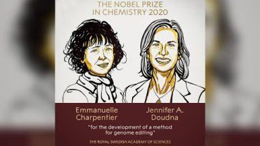 Nobel Prize in Chemistry 2020 Winners: Emmanuelle Charpentier और Jennifer A. Doudna  को मिला जीनोम एडिटिंग मेथड के विकास के लिए  केमिस्ट्री  में नोबेल पुरस्कार