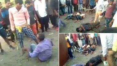 Prayagraj: मोबाइल चोरी के शक में पांच युवकों की बेरहमी से हुई पिटाई, वीडियो देख आप भी रह जाएंगे दंग