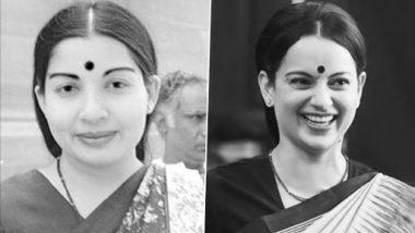 Thalaivi: कंगना रनौत का फिल्म थलाइवी के सेट से जयललिता का लूक सोशल मीडिया वायरल