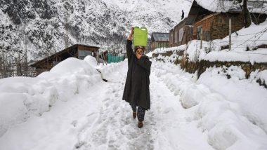 जम्मू-कश्मीर: गुलमर्ग में पारा शून्य से 7 डिग्री नीचे, बारिश और बर्फबारी का लगाया गया अनुमान