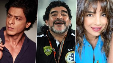 RIP Diego Maradona: शाहरुख खान से लेकर प्रियंका चोपड़ा तक ने मशहूर फुटबॉलर डिएगो माराडोना के निधन पर जाहिर किया दुख