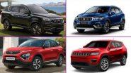 Diwali 2020 Discounts on Cars: दीवाली पर Mahindra Alturas G4, Jeep Compass, Tata Harrier, Honda Civic, Kia Carnival, Maruti S-Cross जैसी कई कारों पर मिल रही है 3 लाख की छूट, यहां पढ़ें पूरी जानकारी