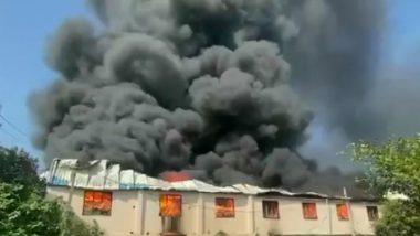 Gujarat: वलसाड स्थित प्लास्टिक कंपनी में लगी भीषण आग, अग्निशमन अभियान जारी, देखें वीडियो