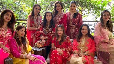 Karwa Chauth 2020: वरुण धवन की गर्लफ्रेंड नताशा दलाल ने सुनीता कपूर और दूसरे सेलेब्स के साथ मनाया त्योहार (Photo)