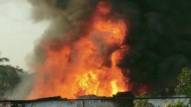Maharashtra: भिवंडी में पावरलूम यूनिट में लगी भीषण आग, दमकल कर्मी घटनास्थल पर मौजूद
