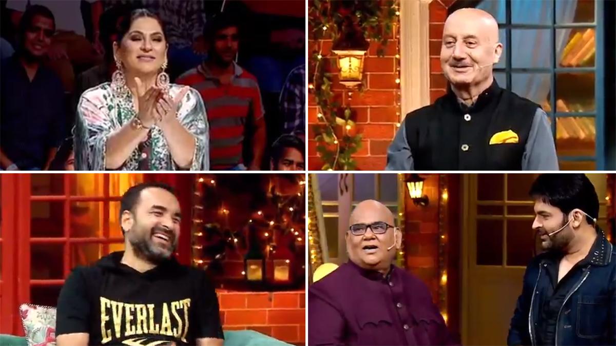 The Kapil Sharma Show Video: अनुपम खेर-सतीश कौशिक ने दर्शकों के सामने अर्चना पूरण सिंह के साथ किया फ्लर्ट, पंकज त्रिपाठी भी हुए लोटपोट | 📺 LatestLY हिन्दी
