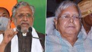 Sushil Modi Attacks on Lalu Yadav: बिहार में सियासी घमासान जारी, सुशील मोदी बोले-लालू यादव ने एनडीए विधायक को महागठबंधन के पक्ष में मतदान करने के लिए दिया प्रलोभन