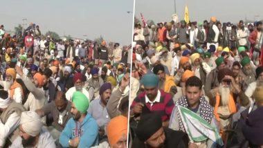 Farmers Protests: दिल्ली के सिंधु बॉर्डर पर प्रदर्शनकारी किसानों की बैठक जारी, आगे की रणनीति पर हो रही है चर्चा