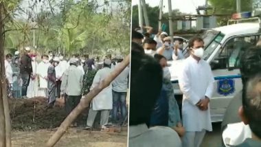 Gujarat: अहमद पटेल हुए पैतृक गांव में सुपुर्द-ए-खाक, राहुल गांधी समेत कई नेता रहे मौजूद