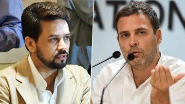 Anurag Thakur Attacks Rahul Gandhi: अनुराग ठाकुर ने राहुल गांधी के ट्वीट पर कसा तंज, बोले पहले अपनी पार्टी पर ध्यान दें