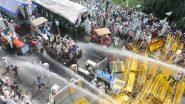 दिल्ली पुलिस ने सिंघु बॉर्डर पर किसानों को हटाने के लिए आंसू गैस के गोले दागे