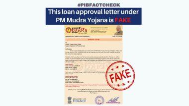 Fact Check: पीएम मुद्रा योजना के तहत लोन लेने के लिए लीगल चार्ज के तौर पर चुकाने होंगे 2,150 रुपए? PIB से जानें वित्त मंत्रालय द्वारा जारी Approval Letter की सच्चाई