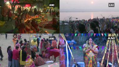Chhath Puja 2020: देश के कई हिस्सों में छठ पूजा महापर्व के चौथे दिन लाखों व्रतियों ने अर्पित की 'ऊषा अर्घ्य'